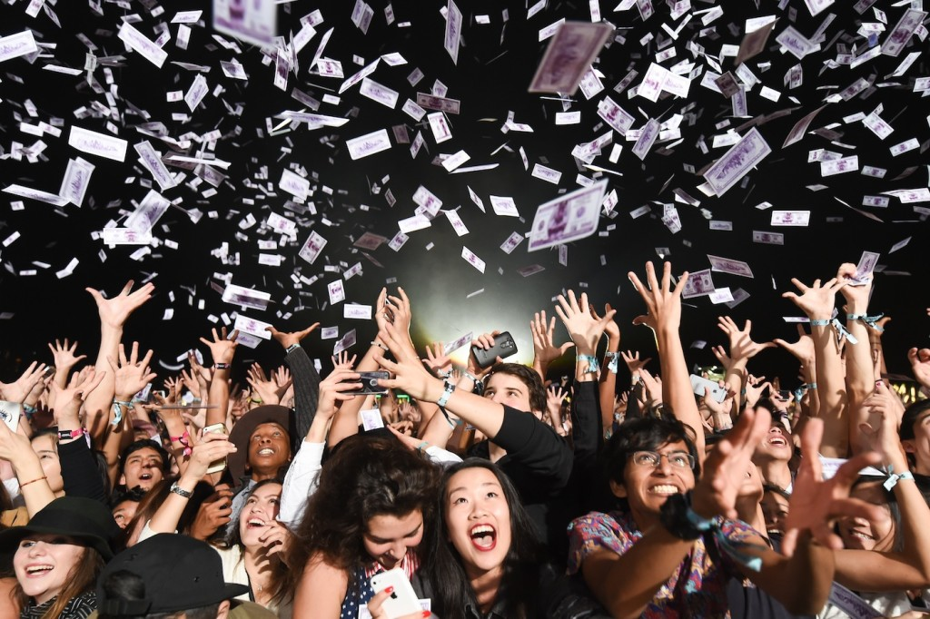 Crowd at A$AP Rocky's show