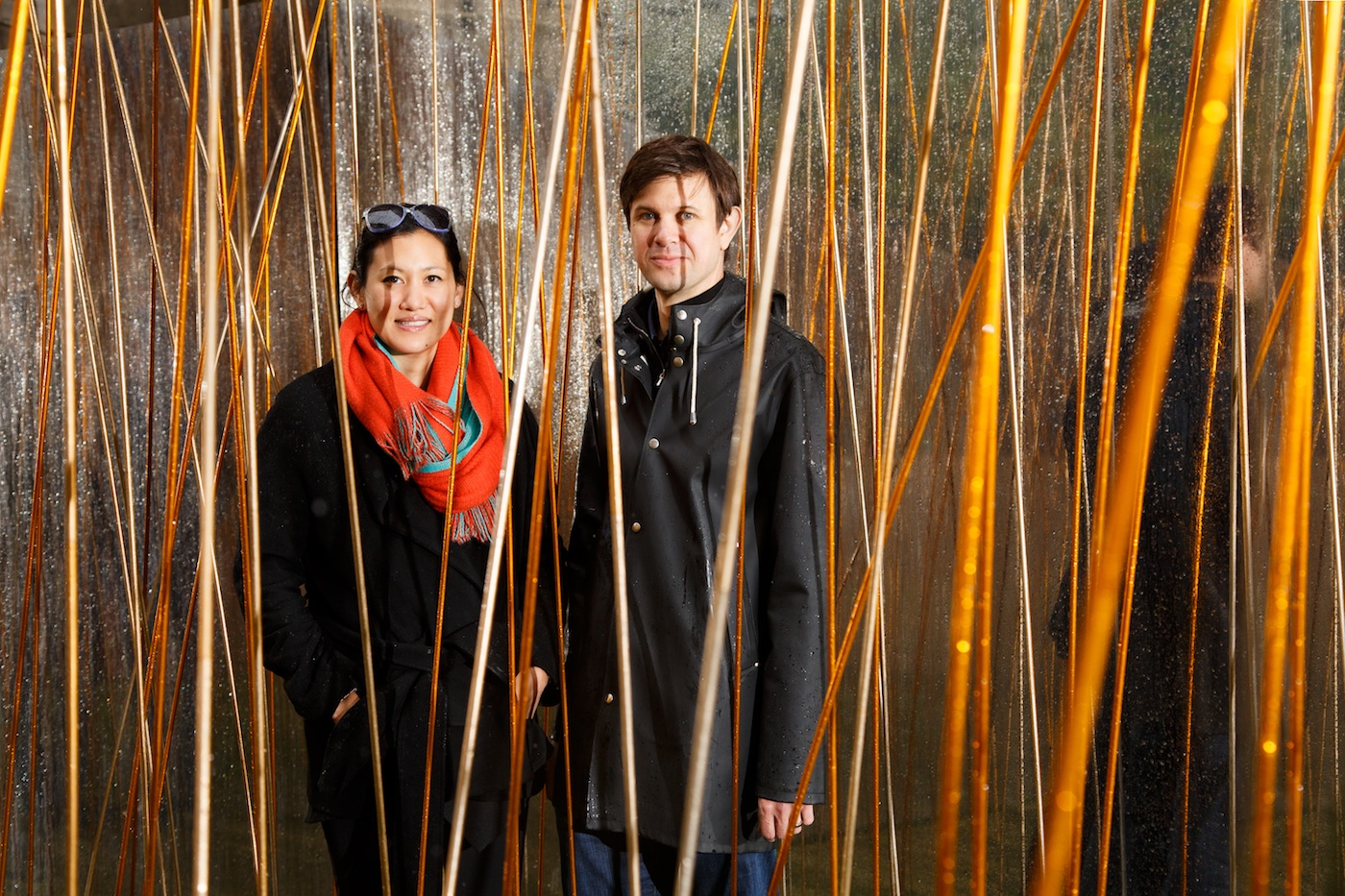 Marisa Yiu and Eric Shchuldenfrei in the industrial forest - Photograph of William Furniss