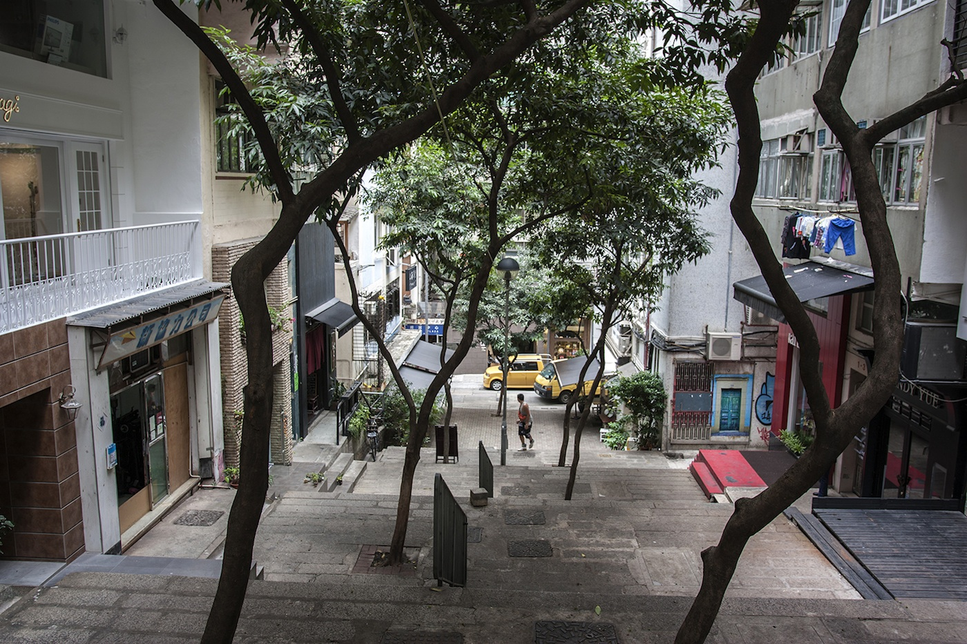 Shin Hing Street in Sheung Wan - Photograph by Christopher Dewolf