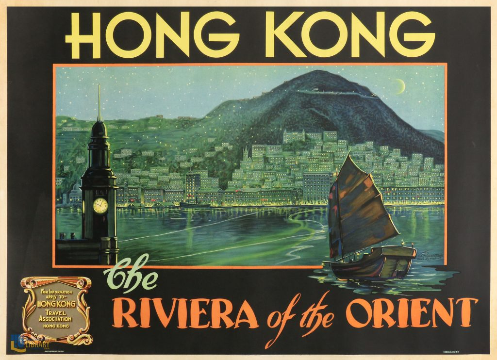 travel posters Hong Kong