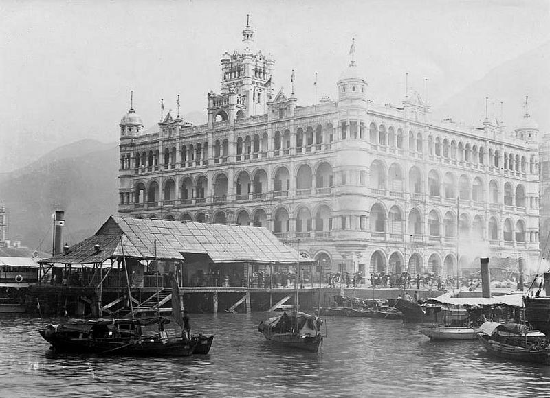 Image of Queen's Building, Central, around 1900